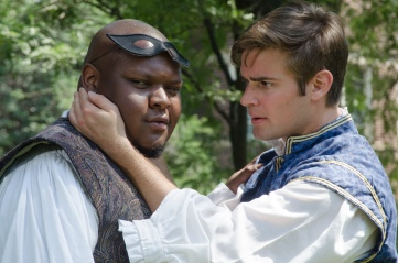 Julian Stroop (Mercutio) and Brian Scannell (Romeo)